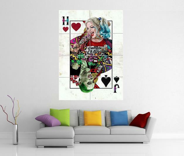 HARLEY QUINN SUICIDE SQUAD JOKER GIANT WALL ART PHOTO PRINT POSTER