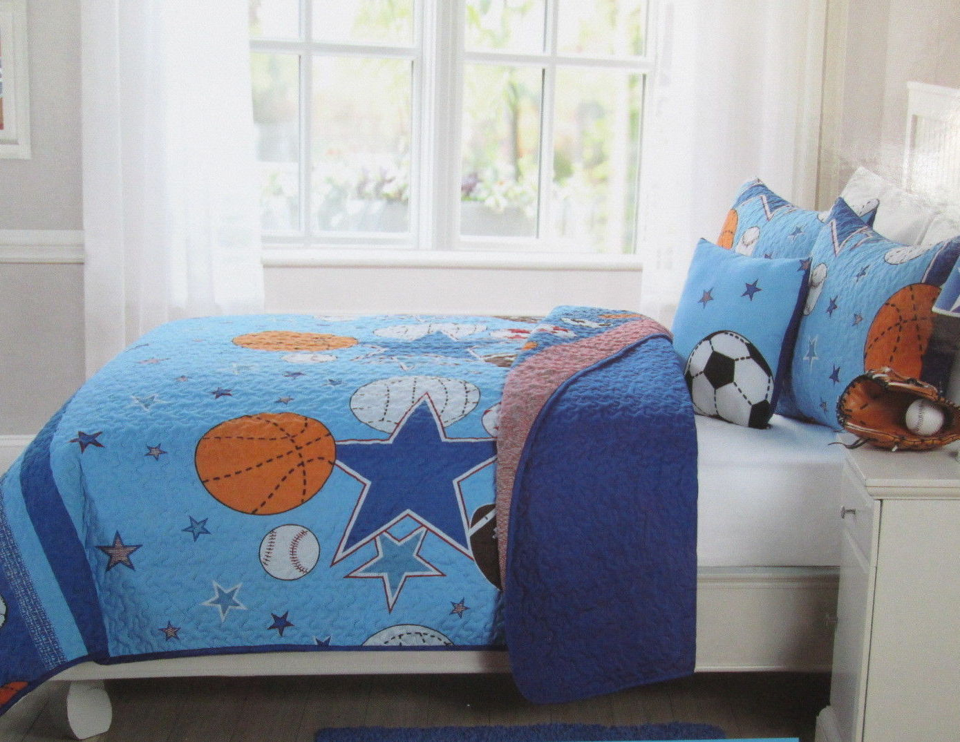 New Kids expressions Sports Et All Stars 4 pc complet Quilt Shams déco Oreiller
