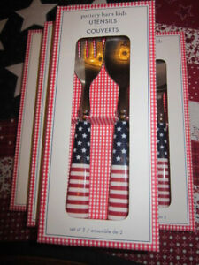 Set Of 4 Boxes Pottery Barn Kids July 4th Labor Day Fork