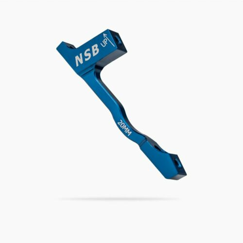 North Shore Billet Disc Brake Adapter Post Mount 20mm 180mm Rotor Blue CNC-mach