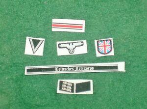 1/6 2ème Guerre Mondiale Allemand Britannique Gratuit Korps Insignes,badge Et Avec Une RéPutation De Longue Date