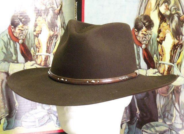 2eddc0134e01a Stetson Mens 5x Pawnee Fur Felt Cowboy Hat Chocolate 7 1 2 for sale online