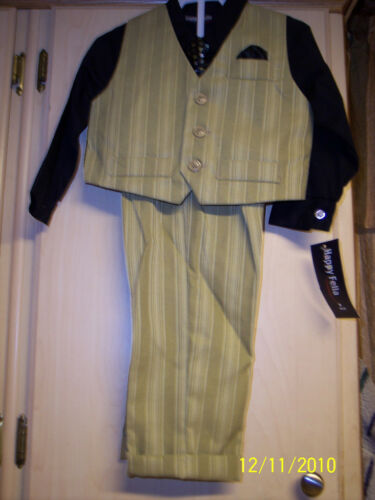 NWT Boys Size 24M 4-Piece Suit By Happy Fella JCPenney