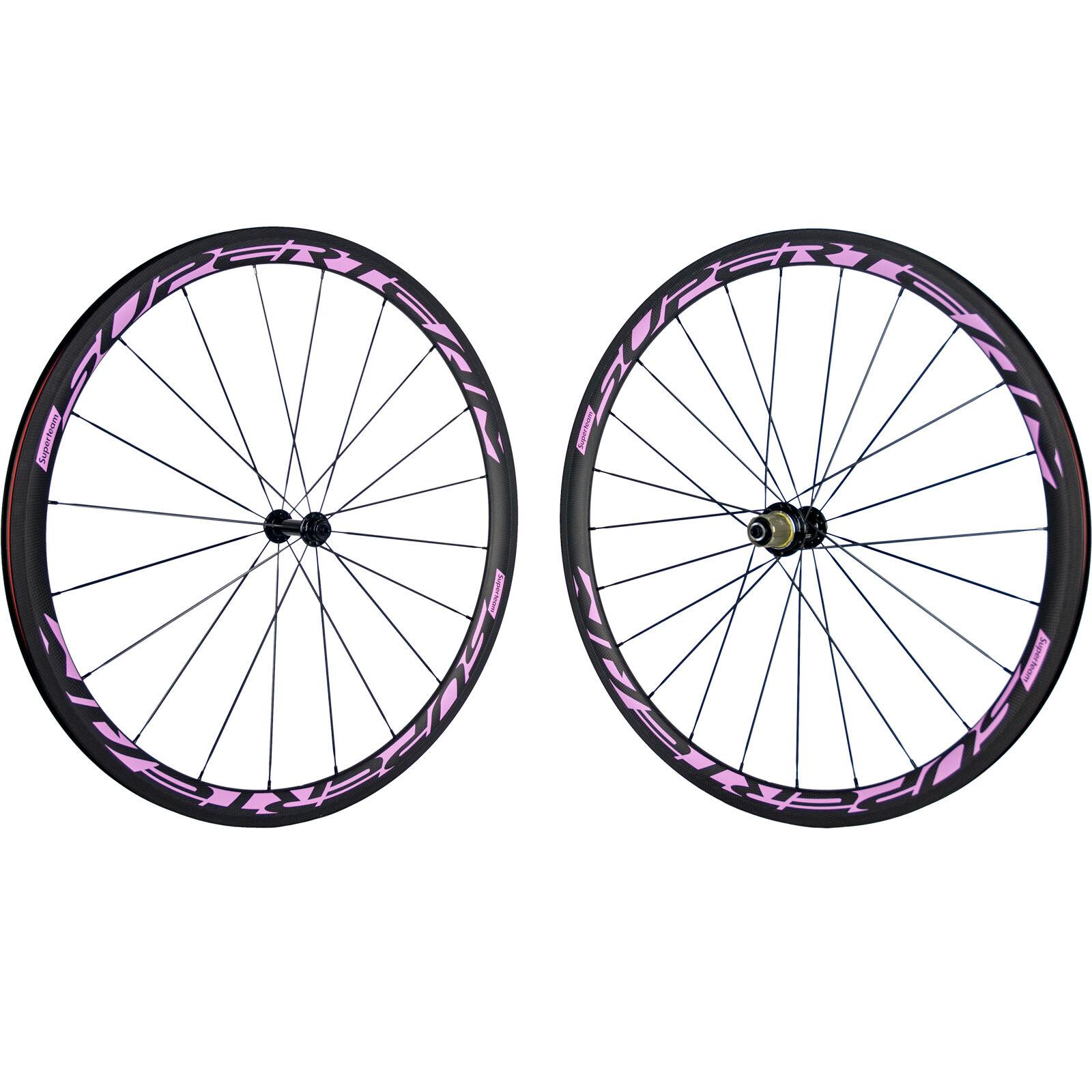 SUPERTEAM T700 Carbon Fibre 38mm Clincher Carbon Wheelset R13 Matt Bicycle Wheel