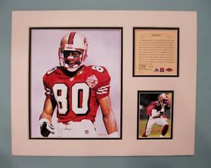 San Francisco 49ers JERRY RICE 1997 Football 11x14 MATTED Kelly Russell Print