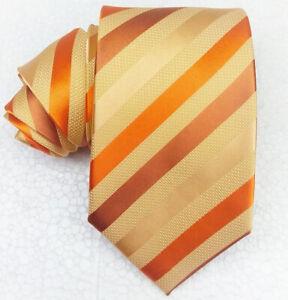 Cravatta-uomo-100-seta-oro-Regimental-Made-in-Italy-business-matrimoni