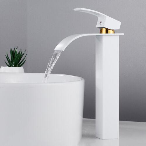 robinet cascade salle de bain évier Comptoir bassin Mélangeur chrome carré mono