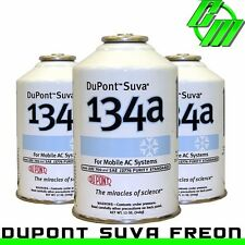 DuPont Suva R134a Automotive A/C Air Conditioning Refrigerant (3) 12 oz Can