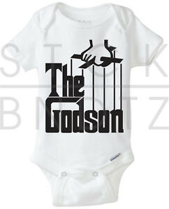6e5894b9a THE GODSON GODFATHER MAFIA RETRO BABY T-SHIRT FUNNY CUTE SHOWER ...