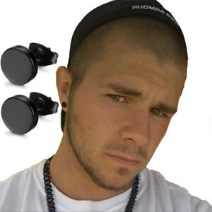 orecchino-finto-dilatatore-orecchini-uomo-nero-a-bottone-da-cerchio-finti-donna