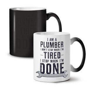 Plumber Stop NEW Colour Changing Tea Coffee Mug 11 oz | Wellcoda