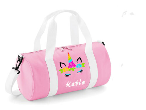 PERSONALISED WOMENSGIRLS KIDS UNICORN DANCE BAG PINK BALLET GYMNASTICS GYM KIT
