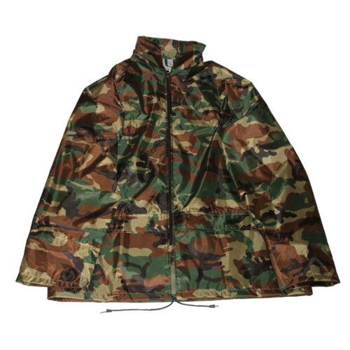 Mens Adults Camo Showerproof Rain Jacket