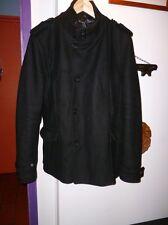 blouson manteau homme jacket man size taille L Large marque ZARA NOIR BLACK