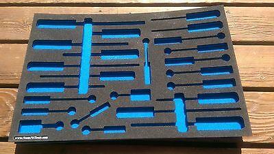 **NEW** Foam Tool Organizer--Black/Blue for Craftsman 24 Screwdriver Set