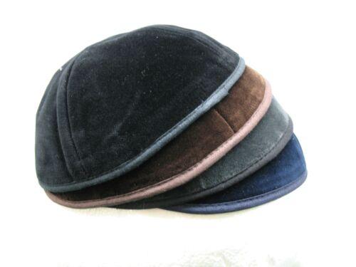 Velvet Yarmulke//Kippah//Kippa//Kipa Black//Brown//Blue//Grey All Sizes USA SHIPPING!