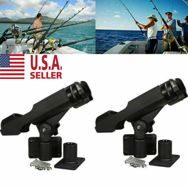 2 Pack Fishing Rod Holder Adjustable 360 Degree Rack Stand For Boat Kayak Yacht