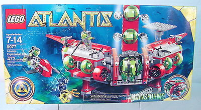 Atlantis Lego #8077 ATLANTIS EXPLORATION HQ~ FACTORY SEALED~ COOL SET~ AWESOME~