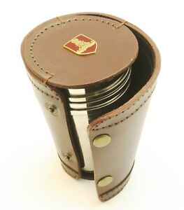 Royal Artillery Shield 4 Stacking Stirrup Shot Cups in Leather Case NEW BKG4 mEziwGEG-09165328-950378338