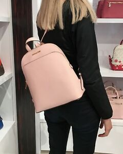 1adc03925fd2 Image is loading MICHAEL-KORS-EMMY-LARGE-BACKPACK-SAFFIANO-LEATHER-BAG-
