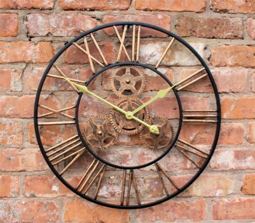 Grand jardin extérieur Horloge Murale Big Chiffres Romains géant Ouvert Visage en Métal 58 cm