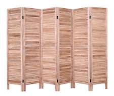 Gentil Item 2 Room Divider Privacy Screen Folding Wall 6 Panel Wood Partition  Rustic Shutter  Room Divider Privacy Screen Folding Wall 6 Panel Wood  Partition ...