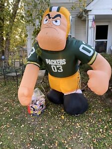 NFL-Inflatable-Green-Bay-Packers-Bubba-AirBlown-Yard-Lawn-Football-Player-See-D