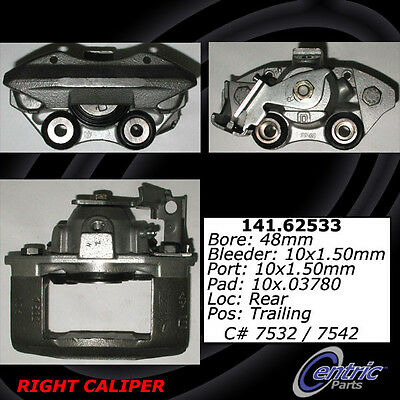 Centric 141.62533 Disc Brake Caliper, Rear Left,Rear Right
