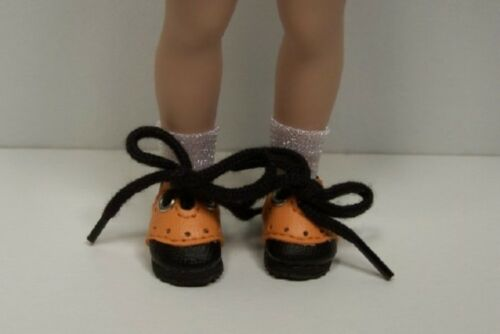 Debs Halloween BLACK ORANGE Saddle Oxford Doll Shoes Made For Helen Kish Riley