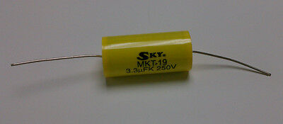 10 x 10uF 250V 10mfd Non-Polarized Audio Crossover Metal Polyester Capacitor