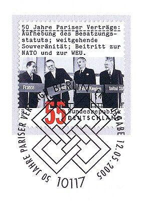 Clever Brd 2005: Pariser Verträge 50 Jahre! Nr. 2459 Mit Berliner Sonderstempel 1a 1906