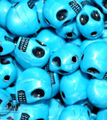 25pcs  gothic skull acrylic beads 12x9mm in diiferent colours