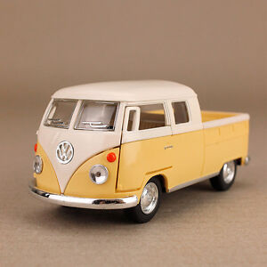 1963-Yellow-Volkswagen-VW-Kombi-Twin-Cab-Pickup-Ute-1-34-Scale-13cm-Die-Cast