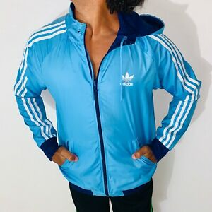 Détails sur Rare Adidas Originaux Homme Adidas Itasca Réversible Veste Nylon Bleu Petit
