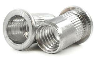 Aluminium Riv Nuts Rainuré Dentelée Moleté Écrous À Sertir M3 M4 M5 M6 M8 M10 M12-afficher Le Titre D'origine