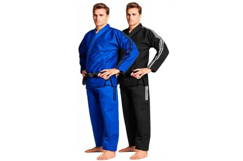 Adidas Contest BJJ Gi Mens IBJJF Jiu Jitsu Suit Black Blue White Uniform A1A5