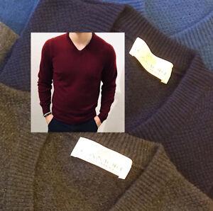 vasta selezione di 46ffa d854e Dettagli su Maglione V Uomo Puro Cashmere Finezza 12 Filati Loro Piana Man  Sweater UCASH02
