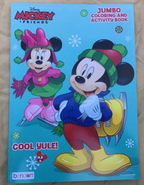 Disney Christmas Mickey Minnie Mouse Coloring Activity Book Age 3 Cool Yule