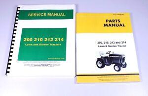 service manual for john deere 200 210 212 214 lawn garden tractor rh ebay com john deere 212 service manual pdf john deere 214 service manual free download