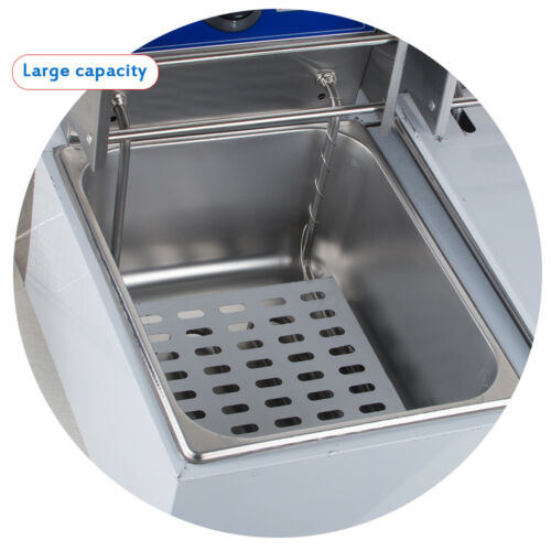 Professional Commercial Electric Countertop Deep French Fryer Restaurant 2500W