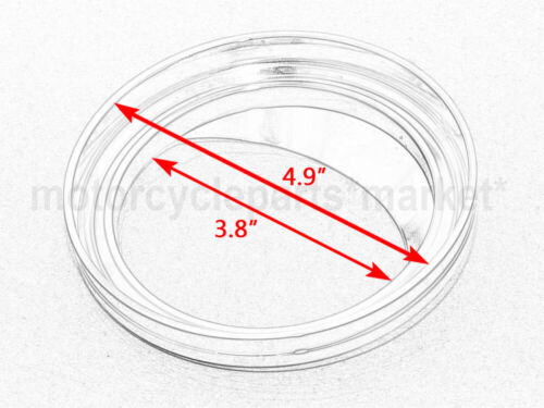 """chrome 5/"""" speedometer gauge cover for Harley /'99-/'05 Dyna Wide Glide FXDWG"""
