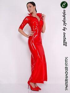 Latex-Kleid-DER-WAHNSINN-im-MEGALANGE-ROT-Groesse-zur-Auswahl