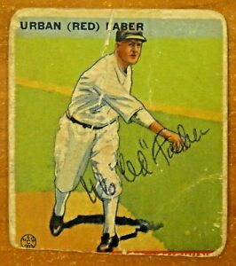 Details About 1933 Goudey Red Faber Signed Baseball Card Autograph Is Real Nice Card Is Poor