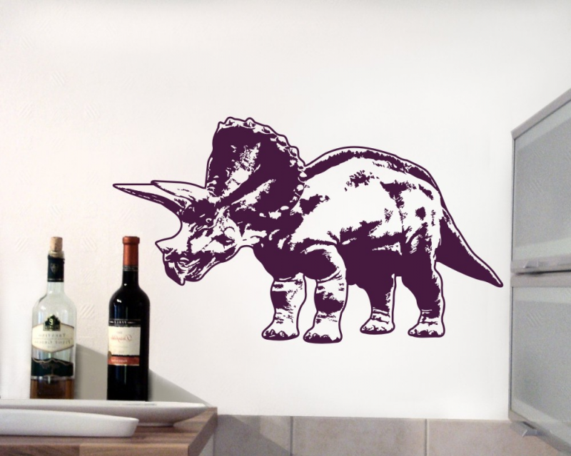 Samunshi Wandtattoo Triceratops Kinderzimmer Dinosaurier XXXL Wandaufkleber