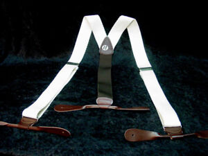 Ivory-Cotton-corded-with-brown-leather-ends-suspenders-braces-MADE-IN-USA