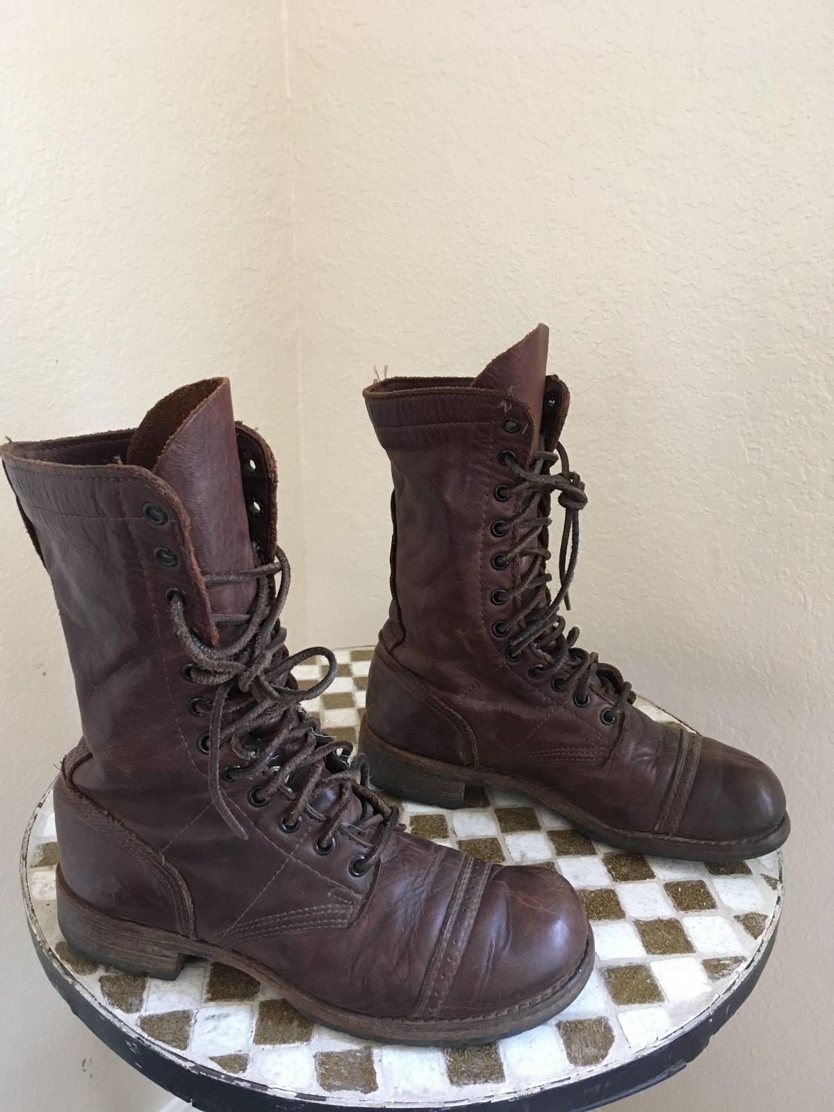 EE. UU. Clásico botas Vintage Marrón botas botas botas Con Cordones abuela urbana de la ciudad 6.5 B  precios mas bajos