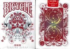 CARTE  DA GIOCO BICYCLE TRANSDUCER LAVA,poker size