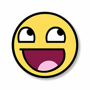 Awesome Smiley Face Sticker Epic Lol Emoticon Internet Meme Car