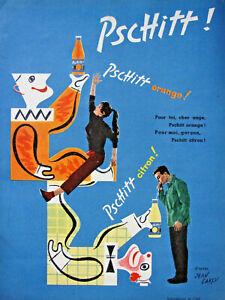 PUBLICITE-DE-PRESSE-1955-PSCHITT-ORANGE-CITRON-BRIGITTE-BARDOT-JEAN-CARLU