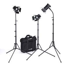 DEL Lampe Vidéo Fresnel Vidéo Lumière studio photo lampes Boling bl-50c/d 3er Set 50